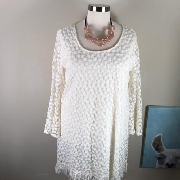 Indigo Soul Women's Lace Dress, ivory (Plus Size)